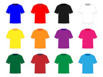 Tee Shirts Different Colours Royalty Free Stock Images