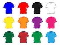 Tee Shirts Pencil Style 1 Royalty Free Stock Images