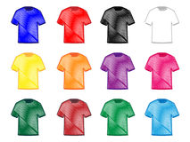 Tee Shirts Pencil Style 2 Royalty Free Stock Photos