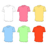 Tee shirts  templates Royalty Free Stock Photo