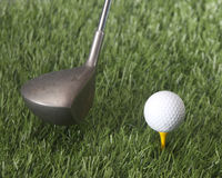 Tee shot. Ready for the perfect shot on the fairway Royalty Free Stock Photography