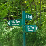 Tee sign, golf Stock Images