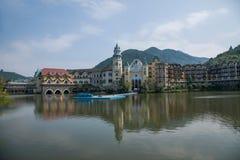 Tee-Strom-Tal-Interlaken-Hotel-Gruppe F OKT Ost-Shenzhen Meisha Lizenzfreies Stockbild