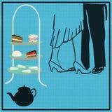 Tee-Tanz Stockfoto