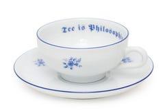 Tee-Tasse und Untertasse stockfotografie