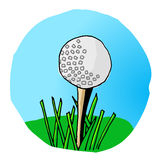 Tee Time. Hand drawn golf doodle converted to vector format.  Bright colors and fun style Royalty Free Stock Photography