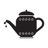 Tee-Topf-Schattenbild Lizenzfreies Stockbild
