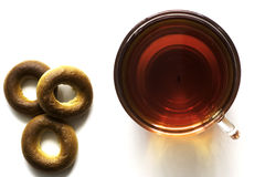 Tee und Bagel Stockbilder