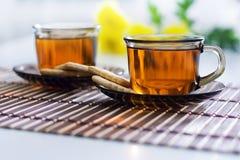 Tee und Biskuit lizenzfreies stockbild