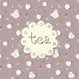 Tee und Bonbons Lizenzfreies Stockbild