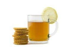 Tee und Cracker Lizenzfreie Stockfotografie