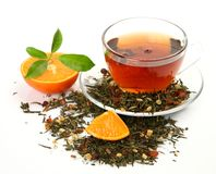 Tee und Frucht Lizenzfreie Stockfotografie