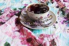 Tee und Heide stockbild