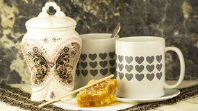 Tee und Honig Lizenzfreie Stockfotos
