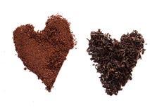 Tee-und Kaffee-Herz stockbilder