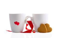 Tee-und Lebkuchen-Plätzchen stockbilder