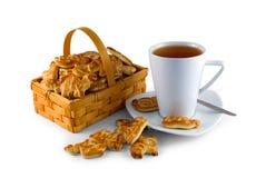 Tee und Plätzchen Lizenzfreies Stockbild