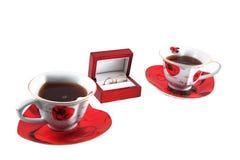 Tee und Ringe Stockfotografie
