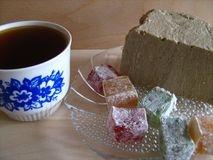 Tee und Süsse Stockfotografie