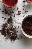 Tee und Schalen stockfoto