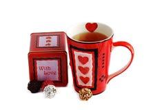 Tee und Schokolade Stockbilder