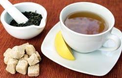 Tee und Zucker Stockbild