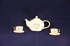 Tee und zwei Schalen Lizenzfreie Stockbilder