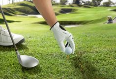 Tee up Royalty Free Stock Photos
