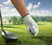 Tee up Royalty Free Stock Image