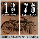 Tee Vintage Motorbike Race | Hand drawing | T-shirt Printing | B. Adge Applique Label fashion style Royalty Free Stock Images