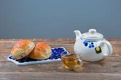 Tee-Zeit für eine Stockfotografie