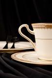 Tee-Zeit und Nachtisch Lizenzfreies Stockbild