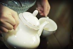 Tee-Zeremonie Stockfotografie
