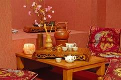 Tee-Zeremonie Stockbild