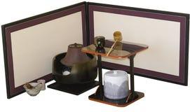 Tee-Zeremonie-Zubehör stockfotografie