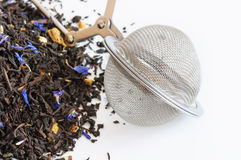 Teeball infuser und duftender Tee Lizenzfreies Stockbild