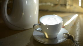 Teebeutel in einem Cup stock video footage