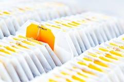 Teebeutelnahaufnahme Stockfoto