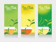 Teeclub- und Teeschalenfahne Lizenzfreie Stockfotos