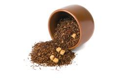 Teecup auf Weiß Lizenzfreies Stockfoto