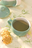 Teecup mit Plätzchen Stockfotos