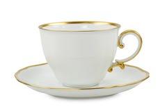 Teecup mit Platte Lizenzfreie Stockbilder