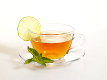 Teecup mit Zitrone Stockbild