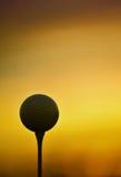 Teed acima no nascer do sol Foto de Stock Royalty Free