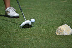 Teed up golf ball royalty free stock image