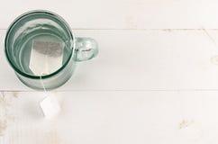 Teeglas und Teebeutel Lizenzfreies Stockbild