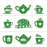 Teehauskonzept Stockbilder