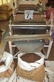 TeeHerstellungsverfahren, Munnar, Kerala, Indien Stockfotografie