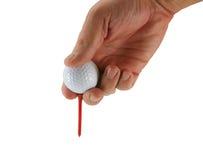teeing игрока в гольф шарика Стоковое Фото