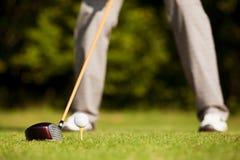teeing för golf Arkivbild